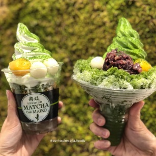 Matcha Special Mix and Matcha Shaved Ice